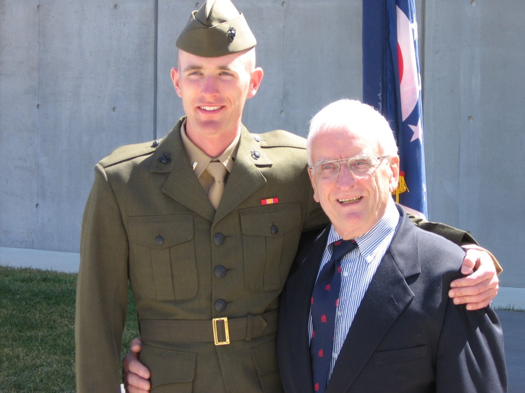 With my grandpa after commissioning, 30 March 2007