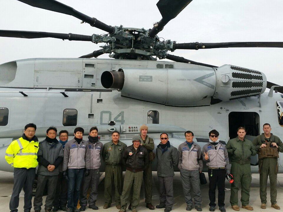 The Korea Aerospace Industries maintenance team and our flight crew