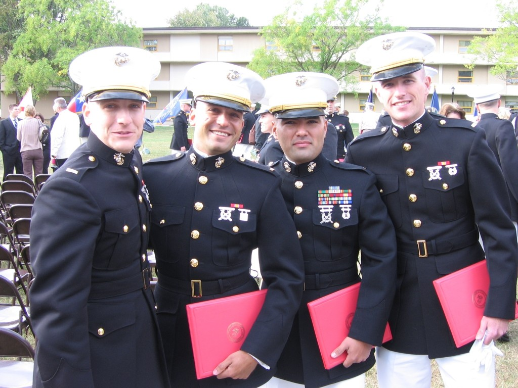 With my roommates at TBS Graduation in October 2007.