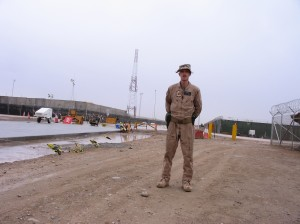 This was one of the first paved roads at Camp Bastion, Afghanistan in 2011.